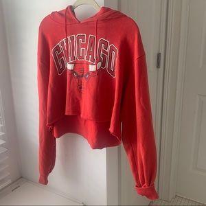 NBA Chicago Bulls Cropped Sweatshirt